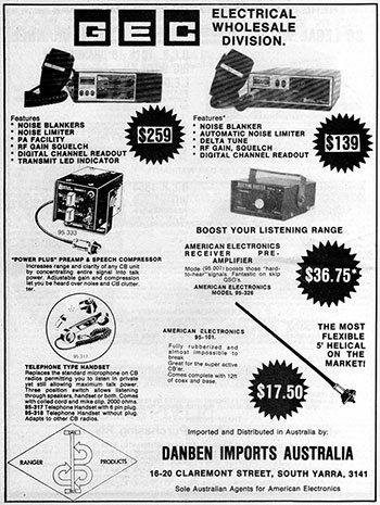American Electronics Products 1978