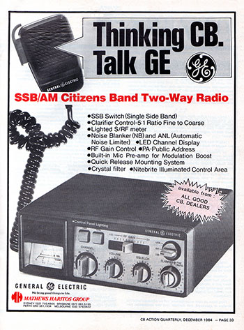 General Electric 3-5826 AM/SSB 1984