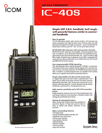 Icom IC40S Brochure