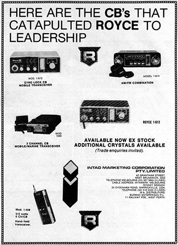 Royce Products 1977
