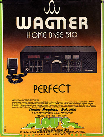 WAGNER 510 AM/SSB Base 1980