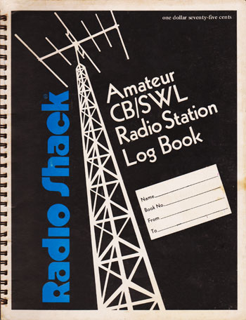 Radio Shack Amateur/CB/SWL radio Log book