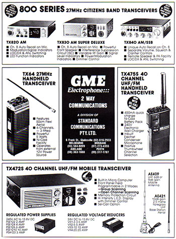 GME Products 1989